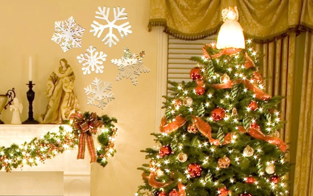 Декоративное акриловое зеркало «Рождественская композиция»