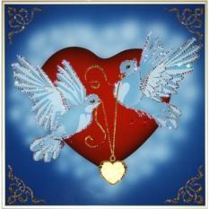Картина с кристаллами Swarovski На крыльях любви