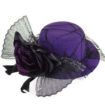Маскарадная шляпа для взрослых Кокетка с розой