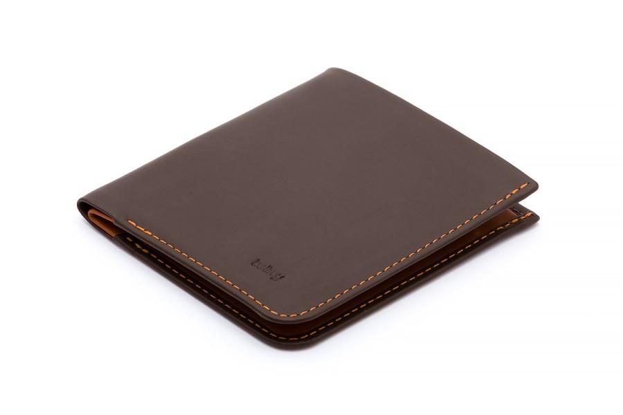Тонкий коричневый кошелек Bellroy High Line Wallet