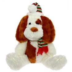 Бело-рыжая мягкая игрушка Собака (45 см)