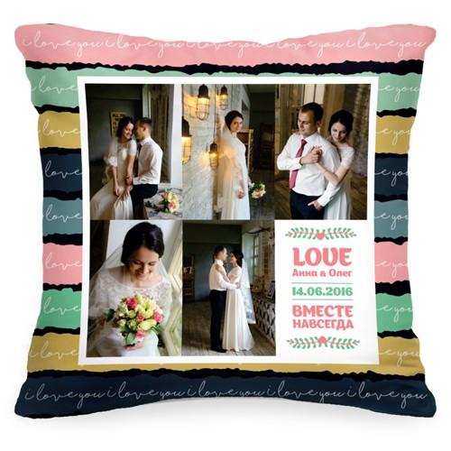Подушка с Вашим фото «Вместе навсегда»
