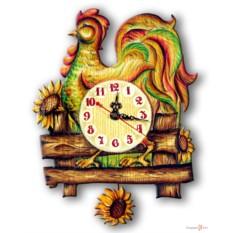 Часы настенные с маятником Петушок