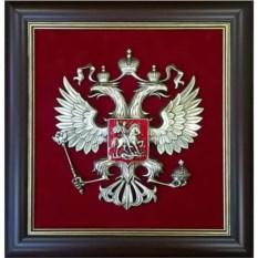 Настенное панно в раме Герб России (43х46 см)