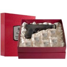 Штоф-пистолет и 6 рюмок Герб. За честь и достоинство