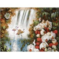 Картины по номерам «Райский сад»