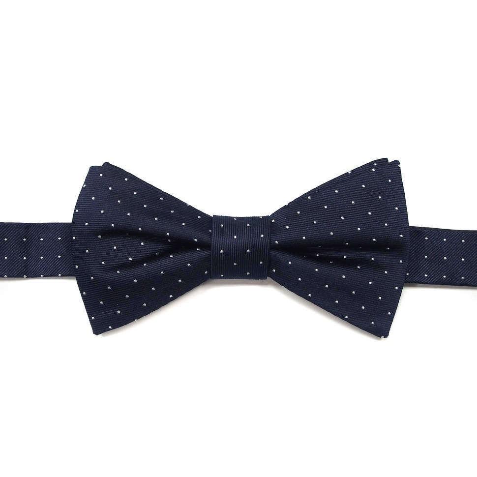 Синий галстук-бабочка в белую точку Laura Biagiotti