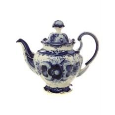 Заварочный керамический чайник Гжель. Семейный №3