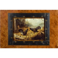 Картина из кожи Борьба глухарей Фердинанд фон Райт