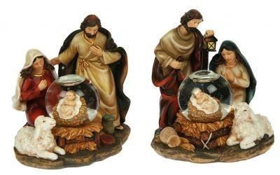 Композиция с водяным шаром Рождение Христа
