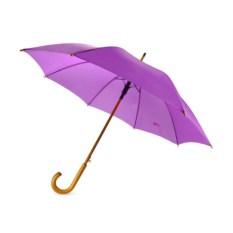 Полуавтоматический зонт-трость «Радуга» фиолетового цвета