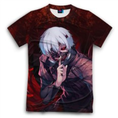 Мужская футболка 3D с полной запечаткой Токийский Гуль