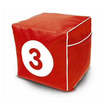 Пуфик «Красный куб»