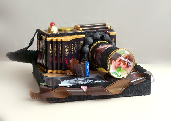 Букет из конфет Фотоаппарат