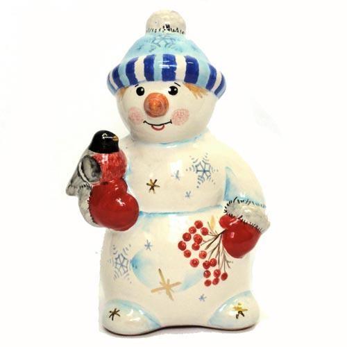 Фигурка Снеговик с рябинкой