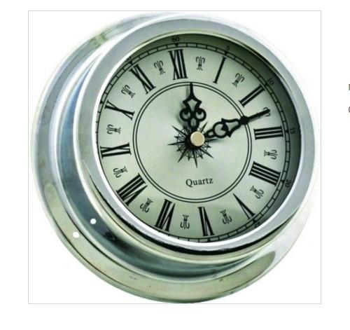 Часы в металлическом корпусе Серебро