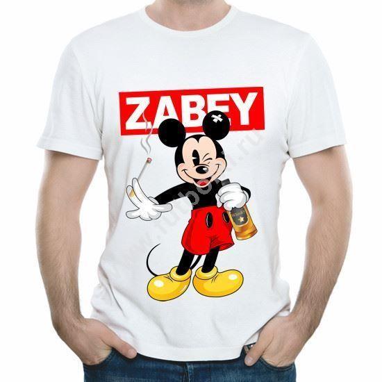 Мужская футболка Микки Маус Zabey