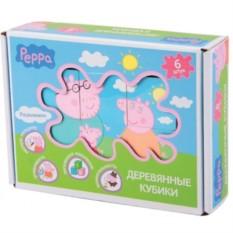 Деревянный игровой набор «Кубики», Peppa Pig