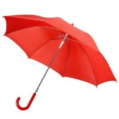 Красный полуавтоматический зонт-трость Promo