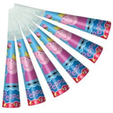 Дудочки бумажные  «Пеппа-принцесса»