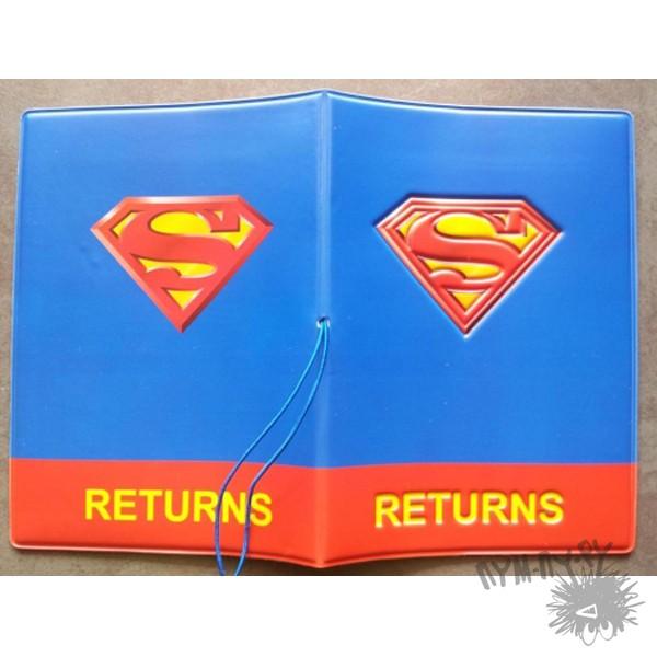 3d обложка на паспорт Супермен
