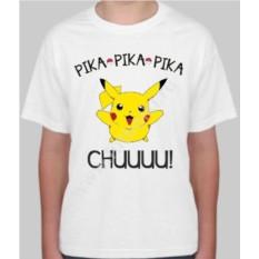 Детская футболка с покемоном Pika pika pika chuuuu