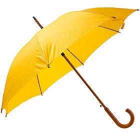 Зонт UNIT STANDART с деревянной ручкой, желтый