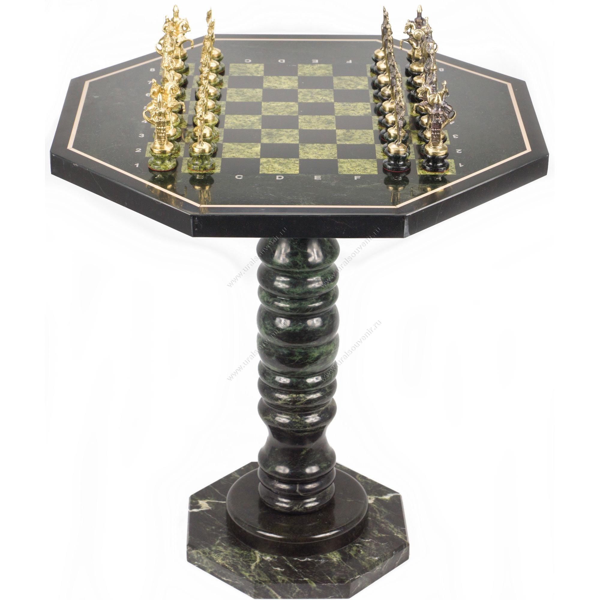 Шахматный стол Русские фигуры