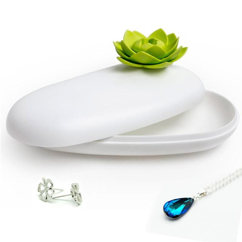 Шкатулка Lotus белая/зеленая
