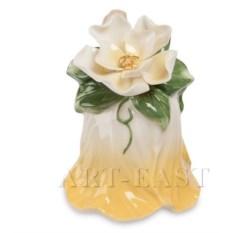 Фарфоровый колокольчик Райский цветок Pavone (желтый)