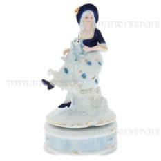 Декоративная фигурка с музыкой Девушка в шляпе