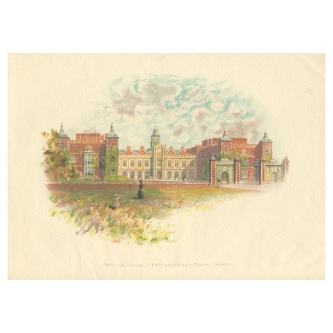 Литография «Хэтфилдский дворец»