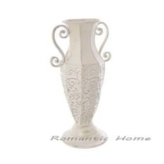 Декоративная металлическая ваза-кубок