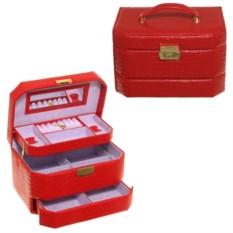 Красная шкатулка-автомат для украшений