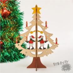 Деревянная игрушка Ёлочка со снеговиком