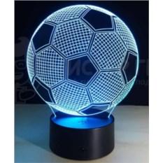 3D-лампа Футбольный мяч