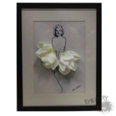 Картина фэшн-гербарий Мэрилин