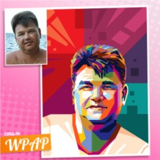 WPAP-портрет на холсте по фото