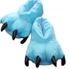 Голубые тапочки-лапки
