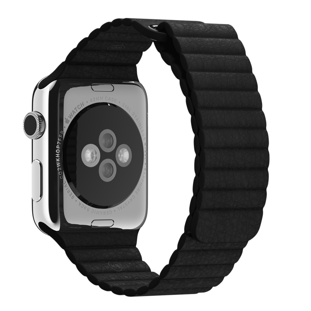 Ремешок Black Leather Loop для Apple Watch