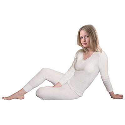 Термобельё шерстяное с ангорой - женские брюки