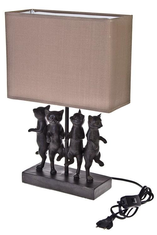 Электрический настольный светильник Танцующие коты