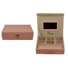 Нежно-розовая шкатулка для ювелирных украшений CALVANI