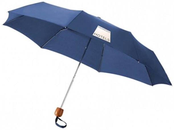 Синий складной зонт