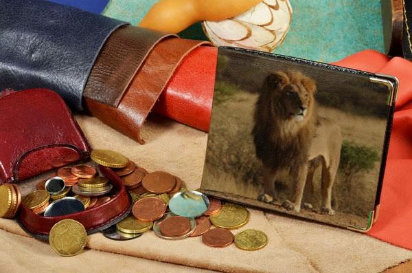 Портмоне с принтом Лев в Африке