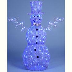 Снеговик своими руками из проволоки 78