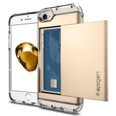 Чехол-визитница для iPhone 7 Crystal Wallet Champagne Gold