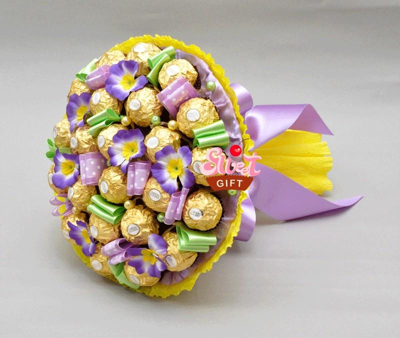 Букет из конфет Янтарный блеск