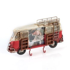 Фоторамка-ключница Красный автобус