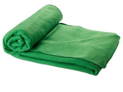 Зеленый плед в чехле зеленый